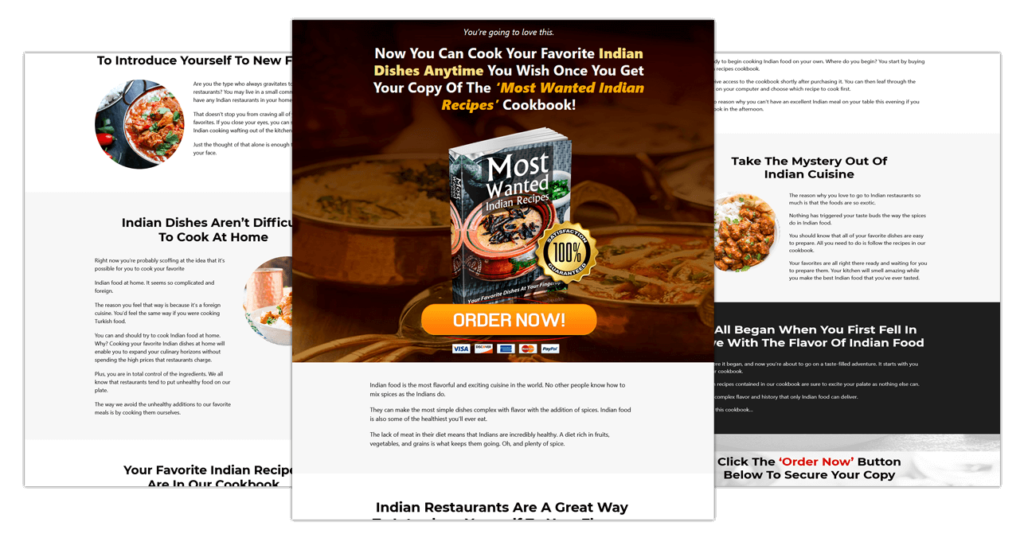 Cookbook PLR Most Wanted Indian Recipes
