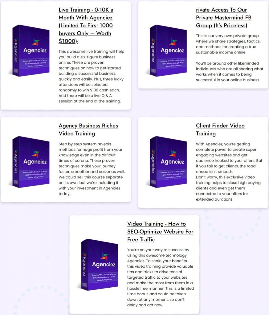 Agenciez Review: 100% Guarantee A Powerful All-in-One DFY Suite 4